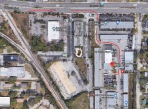 strong college students map of Tampa warehouse location